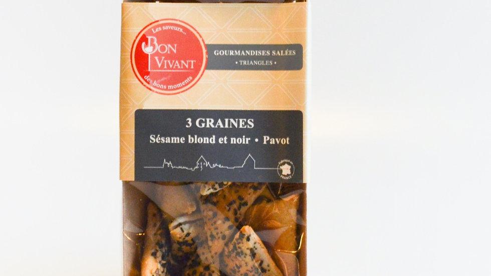 Biscuits Feuilletés au graines de Sésame et de Pavot