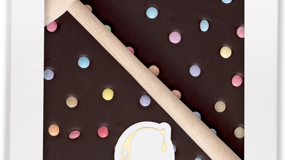 Coffret Marteau Chocolat Noir et Smarties