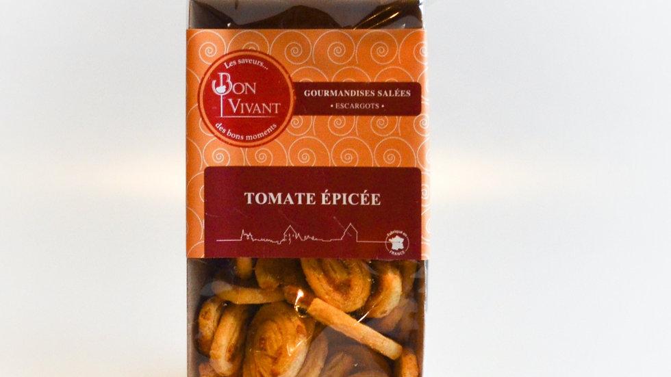 Biscuits salé feuilletés Tomates épicées