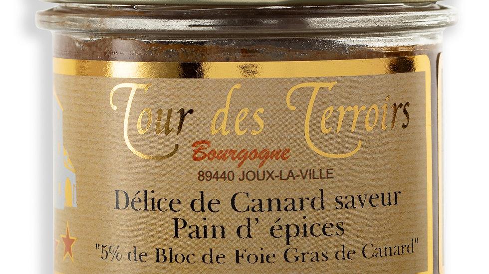 Terrine de Canard/ Foie Gras saveur Pain d'épices