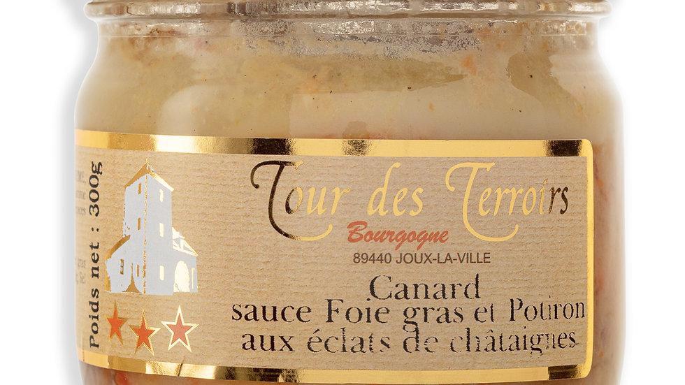 Canard sauce Foie gras et Potiron aux éclats de châtaignes