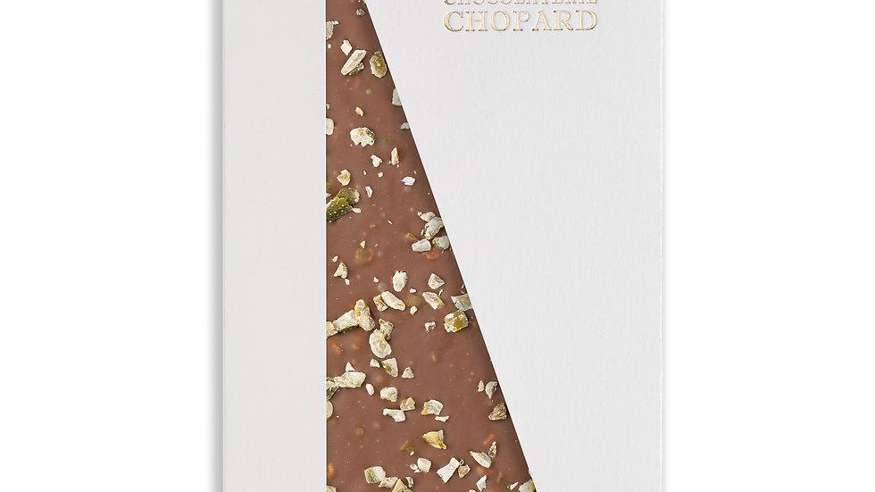 Tablette de Chocolat au Lait aux éclats de pistaches