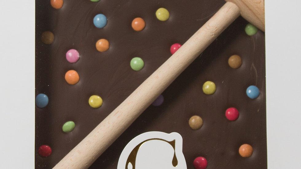 Coffret Marteau Chocolat au Lait et  Smarties