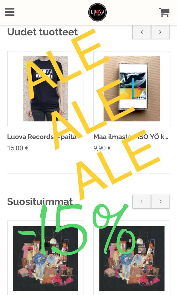 Luova Shop KESÄALE / SUMMER SALE