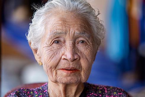 Face woman elderly asian close up, portr