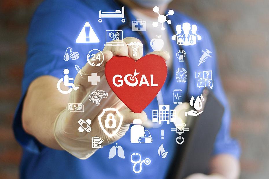 GOAL Health Care. Target in medicine tre