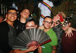 Smiling group pose