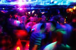 Rainbow coloured crowd