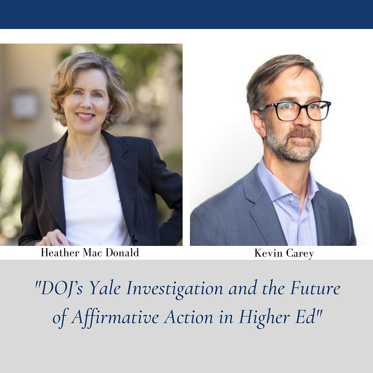 Firing Line Debate: DOJ's Yale Investigation and the Future of Affirmative Action in Higher Ed