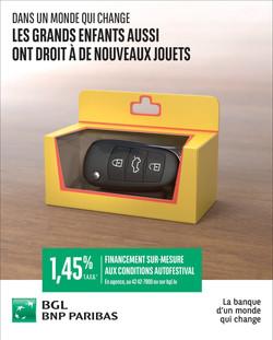 Clé-jouet BGL BNP ParisBas