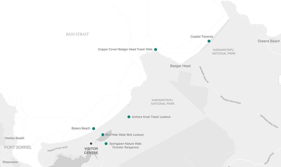 JPEG T.T. - Map - Narawntapu National Pa