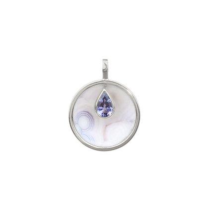 Luna Agate & Purple Spinel Cauldron Pendant (Large)
