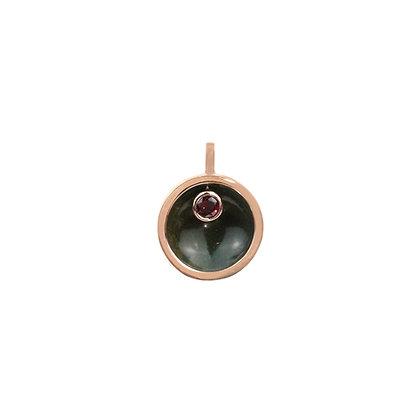 Bloodstone & Garnet Cauldron Pendant (Mini)