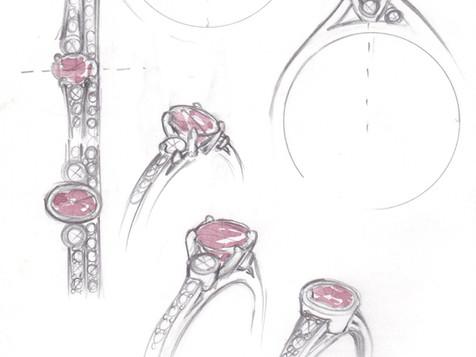 Ethical Garnet Engagement Ring
