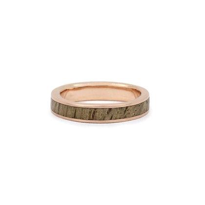 Oak Wood Exterior & Red Gold Orbital Ring