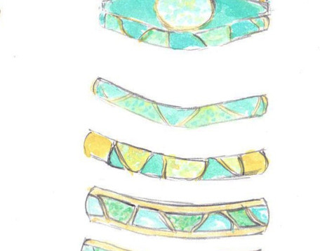 Turquoise & Opal Wedding Set