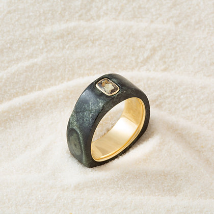 Kambaba Jasper and Zoisite Cloak Ring