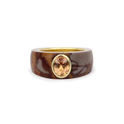 Noreena Jasper & Spessartite Cloak Ring