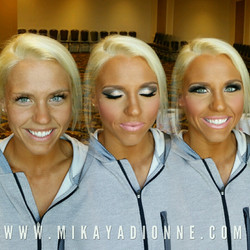 Fitness Competition Makeup