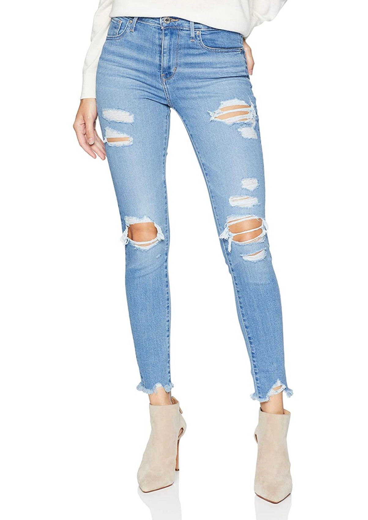 Levi's 721 Distressed Ankle Jeans