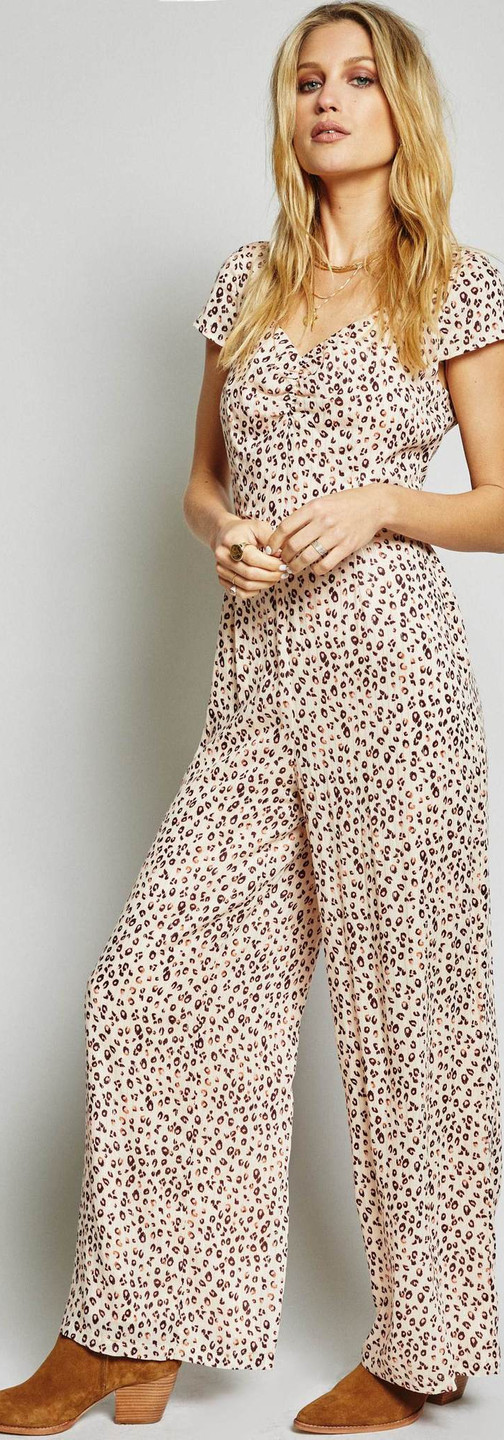 REBEL HEART JUMPSUIT by Sage The Label at Walter Green Boutique. Super cute, comfortable and fashionable. Casual jumpsuit with a fun metallic print makes work easy.
