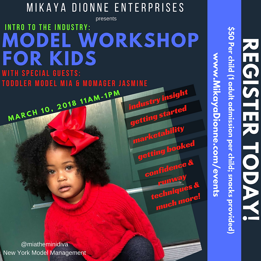 Intro To The Industry: Kids Modeling