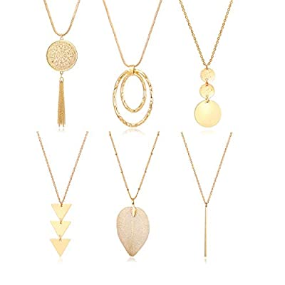 6 pc Long Necklace Set perfect for casual work, leisure or play.