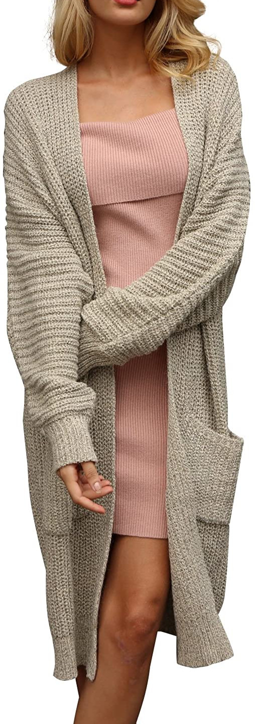 Open Front Long Sweater Cardigan