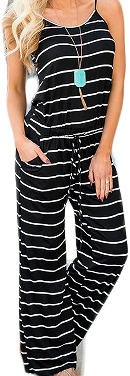 Striped Lounge Jumpsuit comfortable enough for lounging, dressy enough for work.