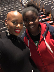 Pompano Beach MLK Summitt where Mikaya Dionne met with fellow sickle cell warrior and lends encouragement to overcome obstacles