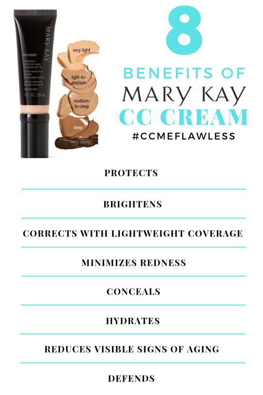Mary Kay CC Cream provides 8 benefits in 1 formula!