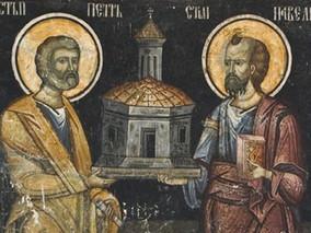 Cuvant de lauda, al celui intru Sfinti Parintelui nostru Ioan Gura de Aur, la Sfintii Apostoli Petru
