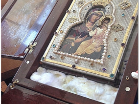 Saturday, September 26, 2015 -The visit of the Miraculous Hawaiian Myrrh-Streaming Iveron Icon of th