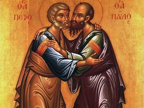 Sfintii, slavitii si intru tot laudatii  Apostoli Petru si Pavel