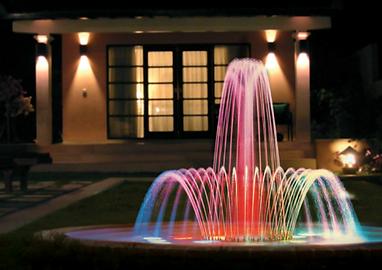 Jet d'eau lumineux Lucens