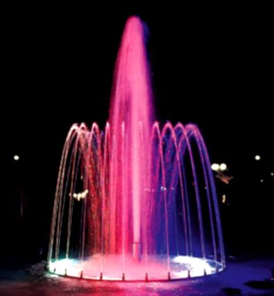 jet d'eau lumineux