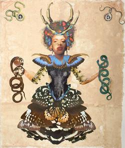 Snake Butterfly Goddess