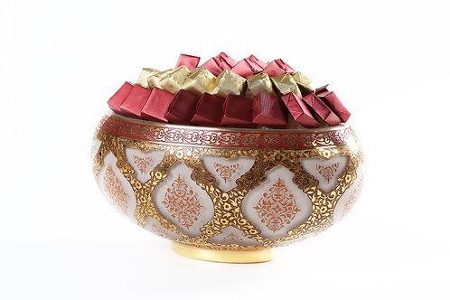 Golden Glamour Bowl Arrangement