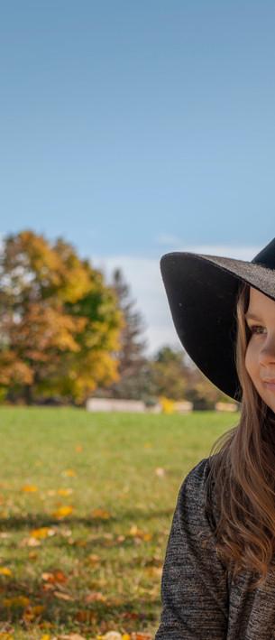 Girl outside portrait