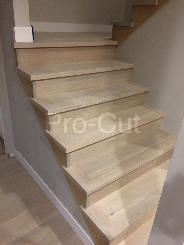 White oak stairs