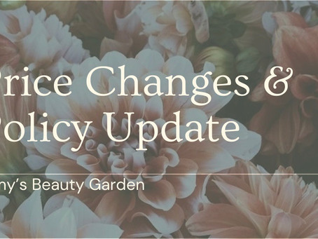 Price Changes & Policy Updates