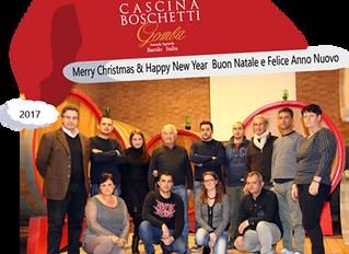 "Cascina Boschetti ""Family"" wish you a Merry Chistmas & Happy New Year"