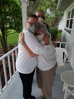 Hugging the Folks post-vaccine