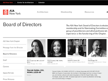 Excited to Share | AIANY Board of Director + AIA National Strategic Planning Committee Appointments