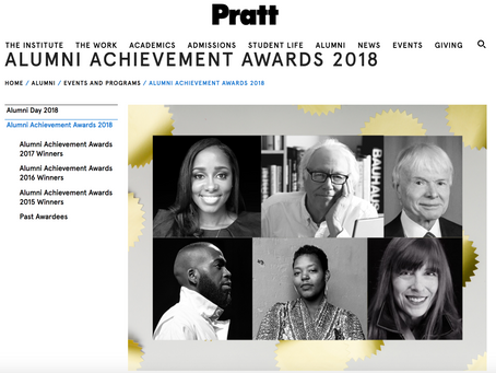 Excited to Share | The Pratt Institute Alumni Achievement Award 2018