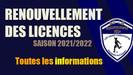 RENOUVELLEMENTS LICENCES 2021-2022