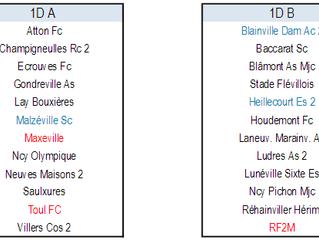 Les Séniors B montent en deuxième division (2D), les groupes de 1D et 2D connus !