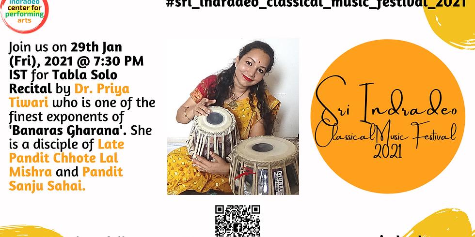 Tabla Solo Recital by Dr. Priya Tiwari