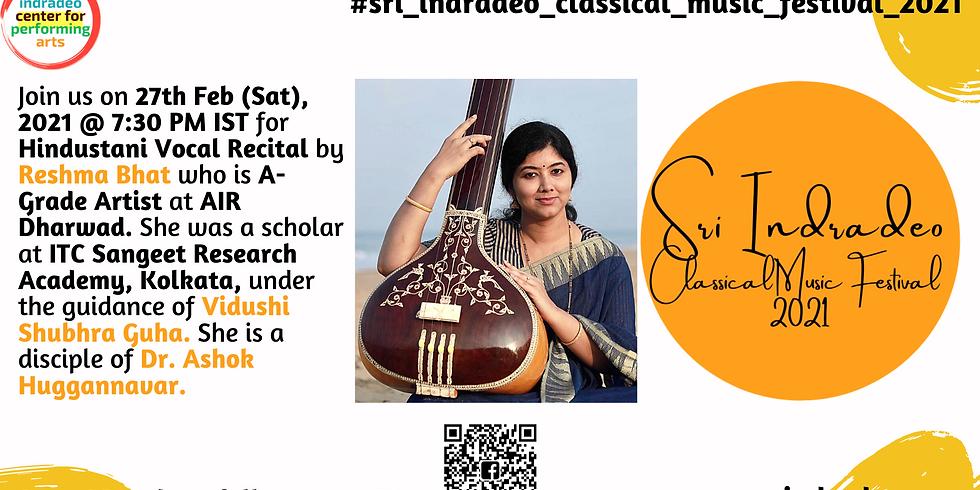 Hindustani Vocal Recital by Reshma Bhat