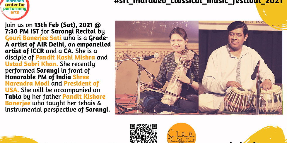 Sarangi Recital by Gouri Banerjee Sati